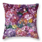 Rose Festival Throw Pillow