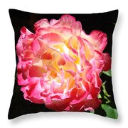 Rose Floral Fine Art Prints Pink Roses Flower Throw Pillow