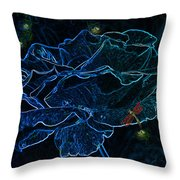 Rose In The Moonlight Throw Pillow