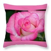 Rose Macro Throw Pillow