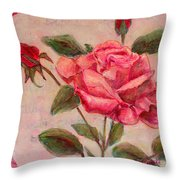 Rose Of Love And Romance Throw Pillow