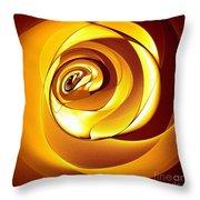 Rose Series - Gold Throw Pillow