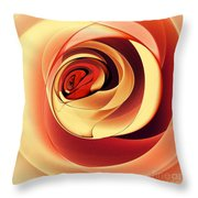 Rose Series - Pink Throw Pillow