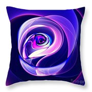 Rose Series - Violet-colored Throw Pillow