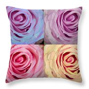 Rose Spiral Colorful Mix Throw Pillow