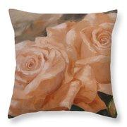 Rose Study Throw Pillow