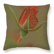 Rose With A Texture Throw Pillow