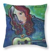 Roseanne Cash Throw Pillow