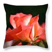 Rosebud Folklore Throw Pillow