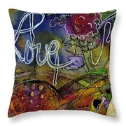 Rosebud Sings A Sweet Love Lullaby Throw Pillow