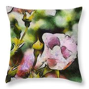 Roses At The Shrine Throw Pillow