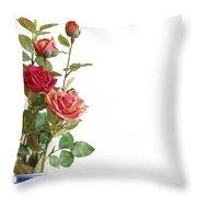 Roses Bouquet Throw Pillow