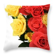 Roses Closeup Throw Pillow