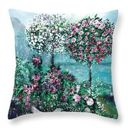 Roses For Maria Throw Pillow