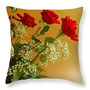Roses For Suzanne Throw Pillow