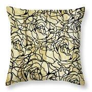 Roses Pattern Throw Pillow by Setsiri Silapasuwanchai