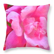 Roses Perfectly Pink Throw Pillow