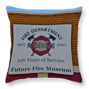 Roseville Fire Department Museum Throw Pillow