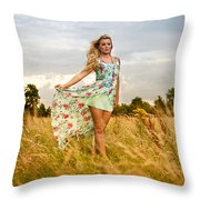 Rosey1 Throw Pillow
