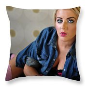 Rosey18 Throw Pillow