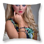 Rosey19 Throw Pillow