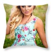 Rosey6 Throw Pillow