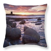 Roslee Castle, Easky, County Sligo Throw Pillow