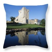 Ross Castle, Killarney, Co Kerry Throw Pillow