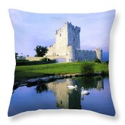 Ross Castle, Lough Leane, Killarney Throw Pillow