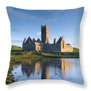 Rosserk Friary, Co Mayo, Ireland 15th Throw Pillow