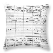 Rossini Manuscript Page Throw Pillow