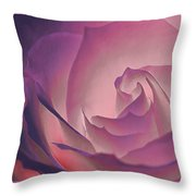 Rosy Daydreamer Throw Pillow