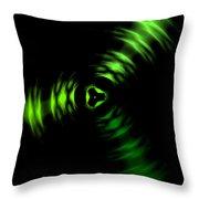 Rotation Green Throw Pillow