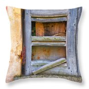 Rotten Shutter Throw Pillow
