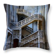 Rouen Cathedral Stairway Throw Pillow