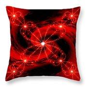 Rouge Et Noir Avec Blanc Throw Pillow
