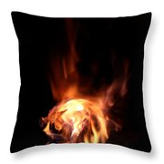Round Heat Throw Pillow