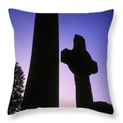 Round Tower And High Cross Throw Pillow