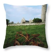 Round Tower, Kilmacduagh Near Gort, Co Throw Pillow