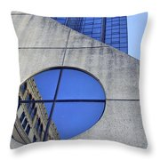Round Window Reflection Throw Pillow