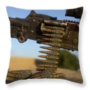 Rounds Of A M240 Machine Gun Throw Pillow