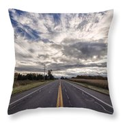 Route 436 Throw Pillow