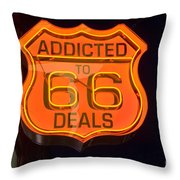 Route 66 Addicted Throw Pillow
