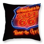 Route 66 Bar And Grill Throw Pillow