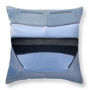 Route 66 Blue Hood Scoop Throw Pillow