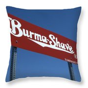 Route 66 Burma Shave Throw Pillow