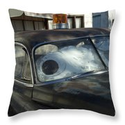 Route 66 Cars Throw Pillow
