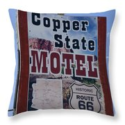 Route 66 Copper State Motel Throw Pillow