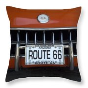 Route 66 Corvette Grill Throw Pillow