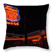Route 66 Cruisers Throw Pillow